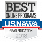 U.S News & World Report Badge Best Online Programs Graduate Education 2018