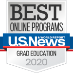 U.S News & World Report Badge Best Online Programs Graduate Education 2020