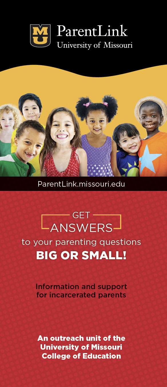 ParentLink Ways to stay in touch with your child Brochure, parenting for incarcerated parents
