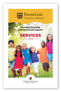ParentLink Core Services Booklet front cover image, University of Missouri, College of Education, 2019