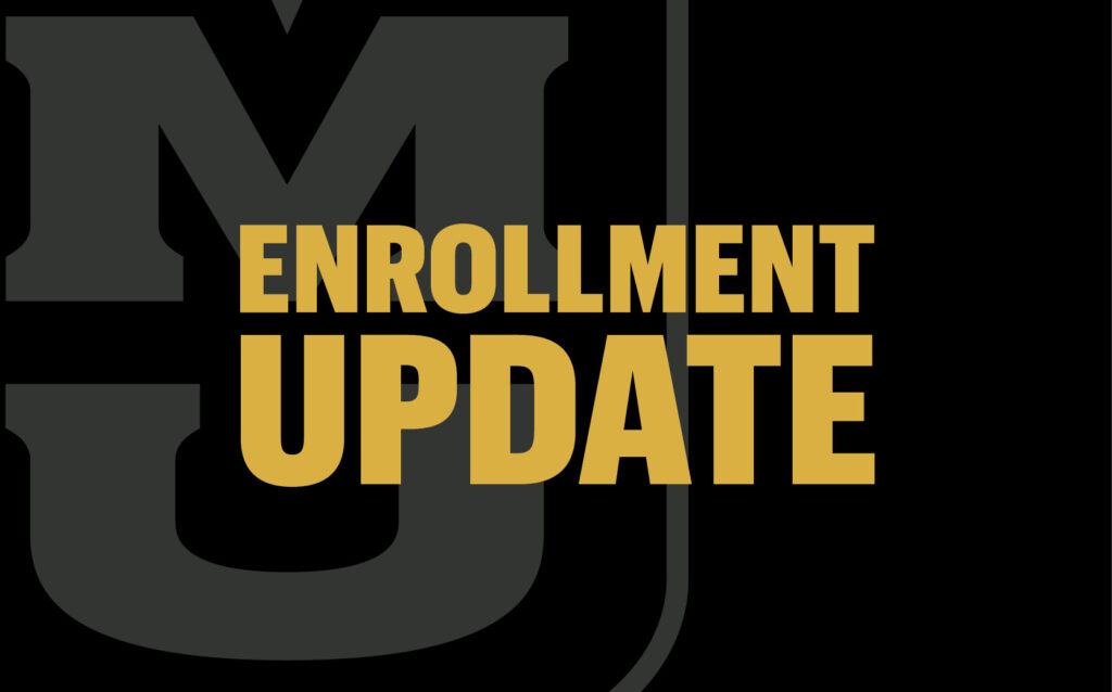 University of Missouri College of Education Enrollment Update graphic
