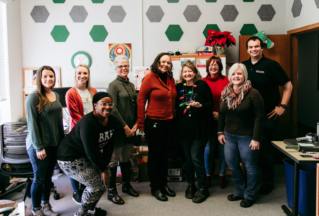 December 2019 Porter Graham Staff Excellence Award Winner April Ravert, ParentLink, University of Missouri College of Education