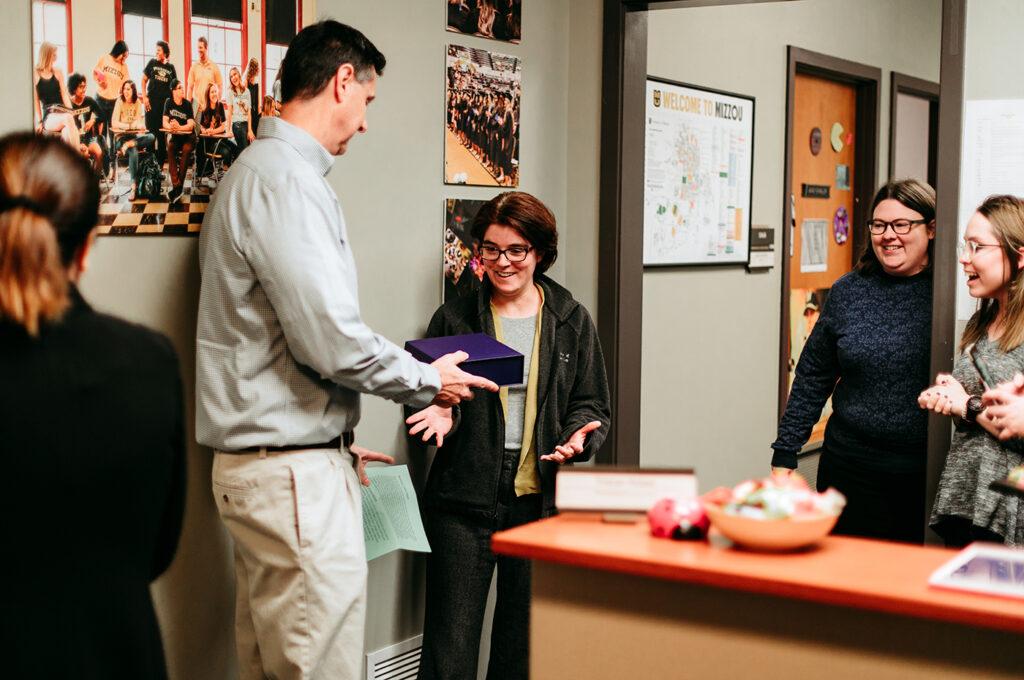 November 2019 Porter Graham Staff Excellence Award Winner Kelly Benson, University of Missouri College of Education