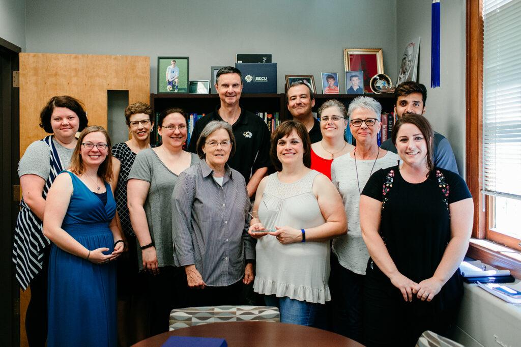 June 2019 Porter Graham Staff Excellence Award Winner Shawna Nichols, University of Missouri College of Education