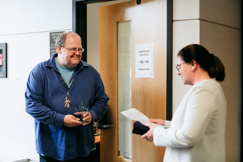 July 2019 Porter Graham Staff Excellence Award Winner Tim Eisenbarth, Assessment Resource Center, University of Missouri College of Education