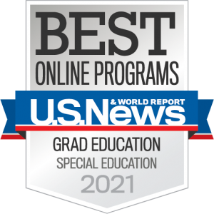 US NEws and World Report. Best online programs. Grad Education, Special Education, 2021