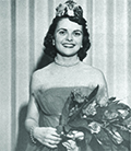 Joanne Hunt represented Pi Beta Phi her sophomore year and reigned over the Military Ball in 1953. Photo courtesy University Archives/1953 Savitar.