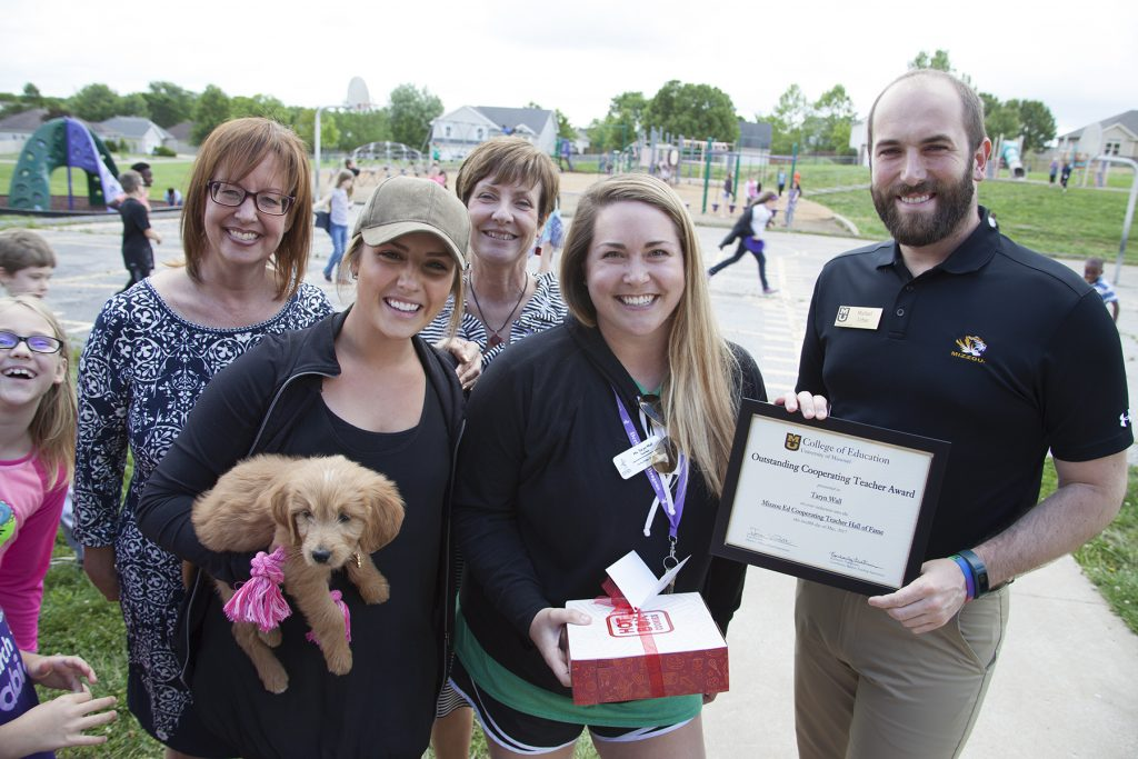 Taryn Wall, 2nd grade elementary teacher at Derby Ridge Elementary school in the Columbia Public Schools. Wall was nominated by Emily Christensen, Elementary Education major.