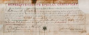 Superintendent's Special Certificate