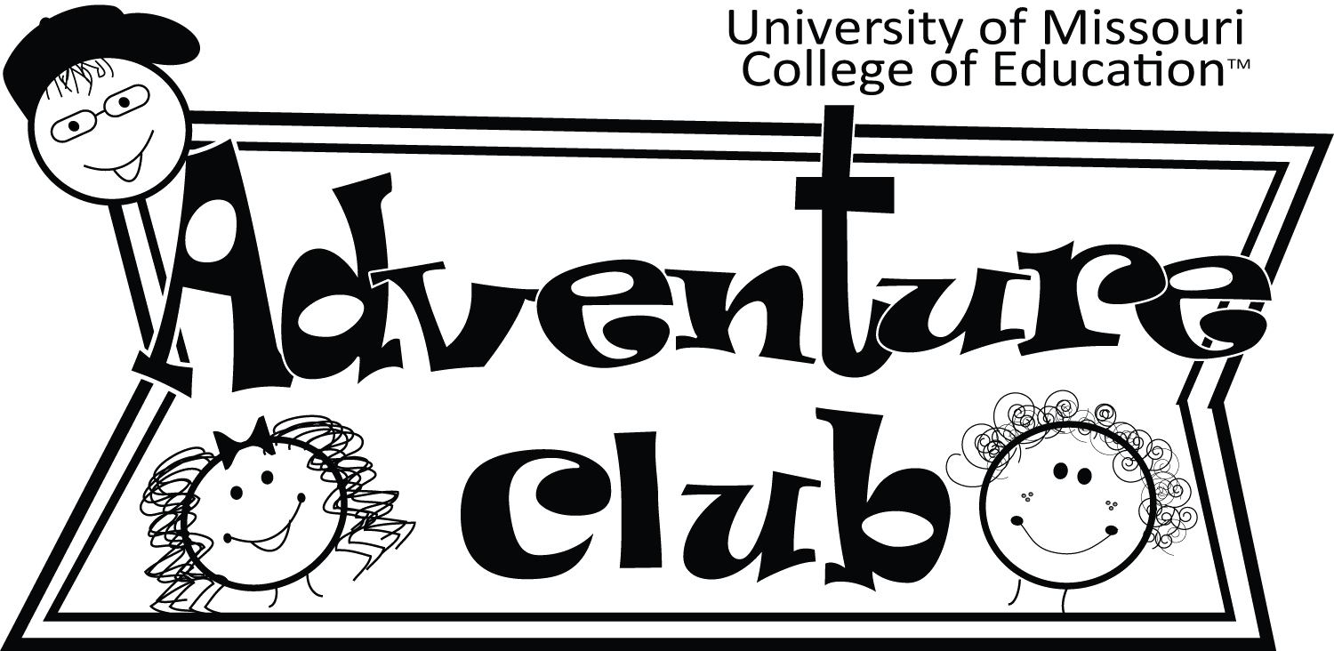 Adventure Club moved from MU Extension to the College of Education. Adventure Club Logo circa 1990's.