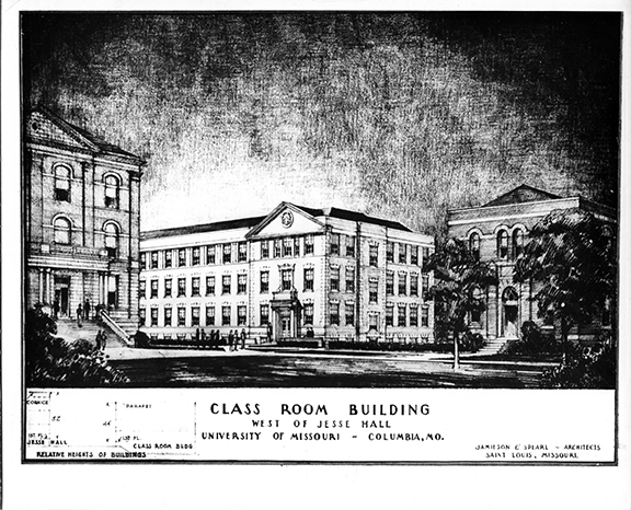 Hill Hall Rendering, 1950