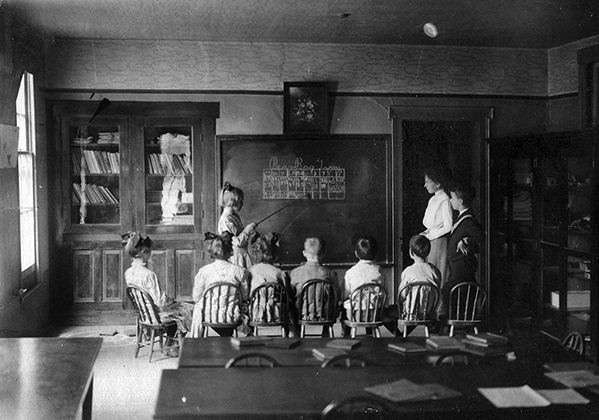 University Lab School, student teaching, 1904.