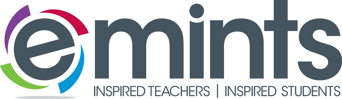 eMINTS National Center moved to the College of Education. Originally part of the University of Missouri System, eMINTS is an educational program designed to equip educators with a focus on technology in the classroom, standards-based instruction and research-based teaching practices. eMINTS logo with slogan: Inspired Teachers | Inspired Students