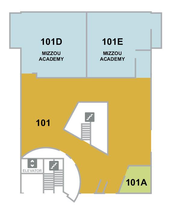 Reflector 1st floor floor plan, Townsend Hall, University of Missouri College of Education