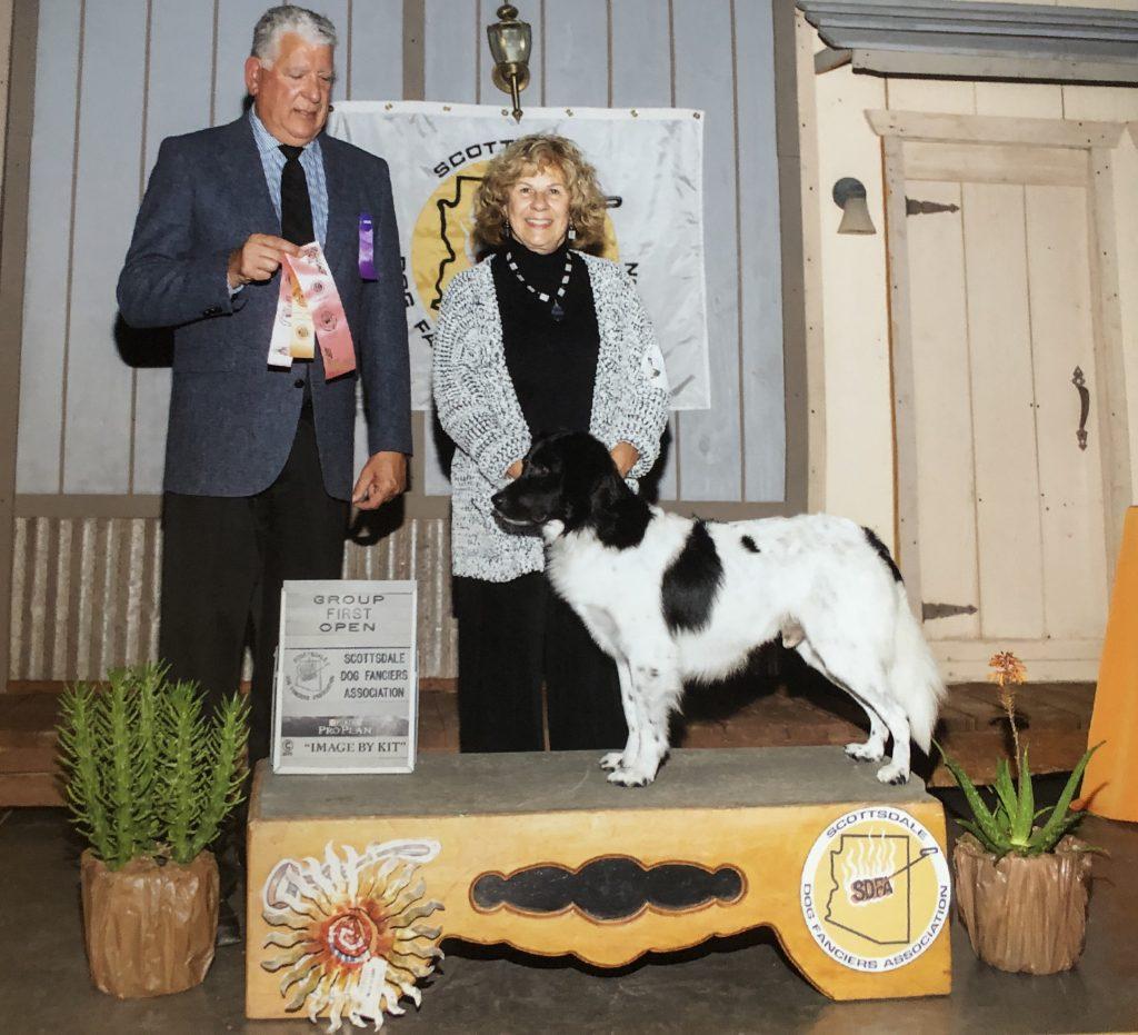 Kathleen Banks and an award winning dog