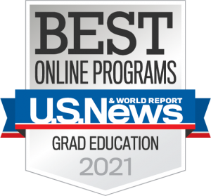 US News Best Online Programs badge