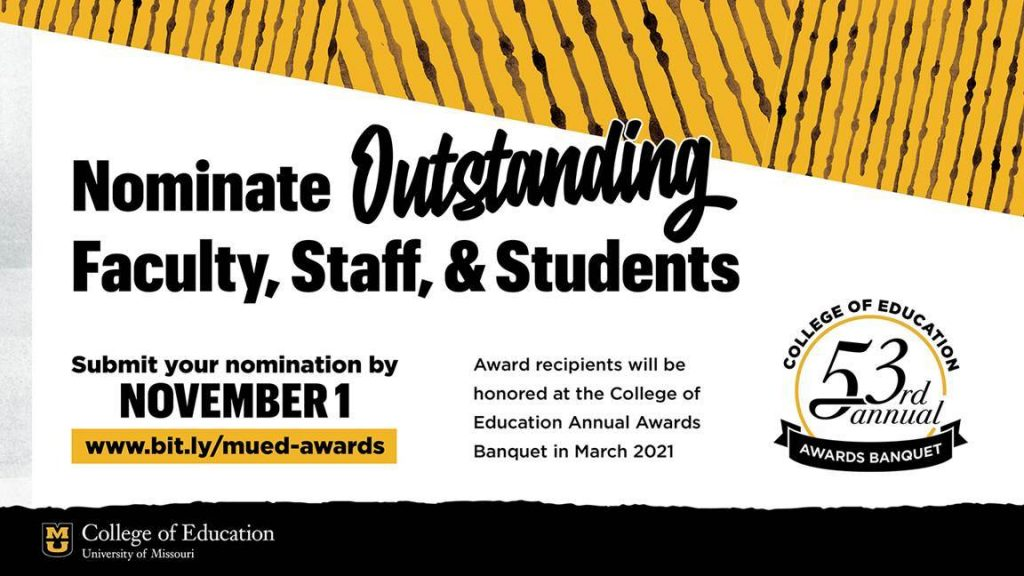 Nominate Outstanding Faculty, Staff and Students by Nov. 1 for the College of Education Awards