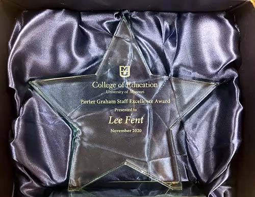 Lee Fent Porter Graham Staff Excellence Award Presentation, University of Missouri College of Education, Mizzou Academy