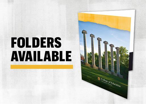 Folders Available, University of Missouri folder image with Columns