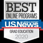 U.S News & World Report Badge Best Online Programs Graduate Education 2020