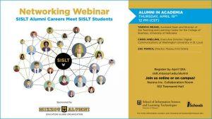 Networking: SISLT Alumni Careers Meet SISLT Students Alumni in Academia: 12pm CDT April 19, 2018