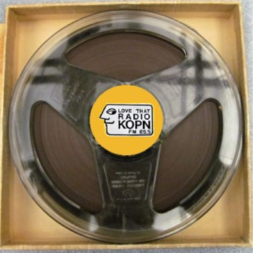 "Audio tape with label ""Love that radio KOPN"""