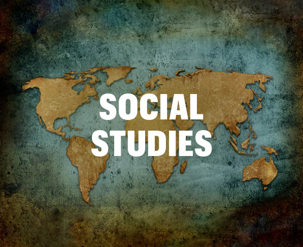Mizzou Academy social studies courses, world map with texture in background